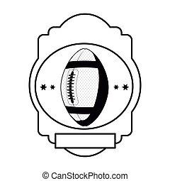 monochrome heraldic with football ball