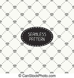 Monochrome hipster fashion geometric seamless pattern with diamond. Wrapping paper. Paper for scrapbook. Tiling. Vector illustration. Stylish graphic texture.