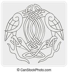 monochrome icon with Celtic