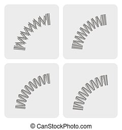monochrome icons with Springs - set of monochrome icons with...