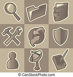 Monochrome internet icons