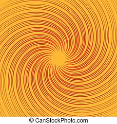 (monochrome), kleurrijke, achtergrond., abstract, pattern., ronddraaien, lijnen, warped, radiaal, kolken, omwenteling, vervormd, spiraal