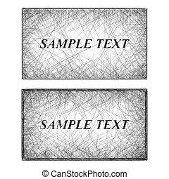 Monochrome line art business card templates
