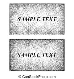 Monochrome line art business card templates