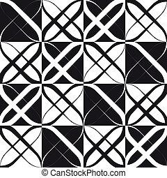 monochrome, modèle géométrique