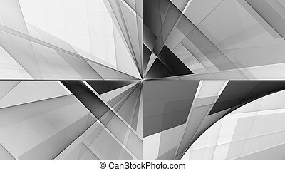 Monochrome pattern fractal background