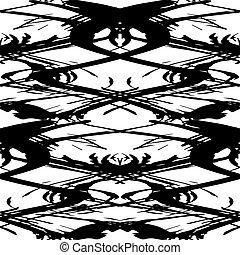monochrome pattern vintage ethnic ornament on a black background vector illustration