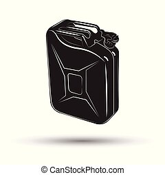 Monochrome petrol canister icon - Monochrome fuel canister ...