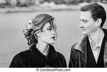 Monochrome Portrait Of Loving Couple