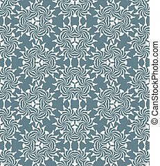 monochrome psychedelic floral abstract seamless pattern