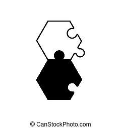 monochrome, puzzle, puzzle, solution