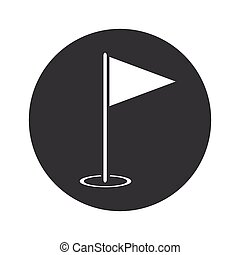 Monochrome round flagstick icon
