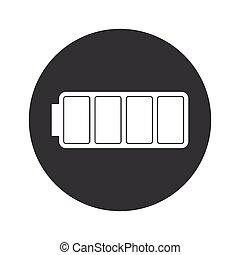 Monochrome round full battery icon