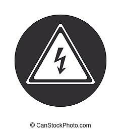 Monochrome round high voltage icon