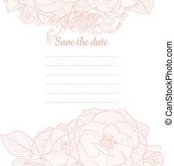 Monochrome Save The Date Template
