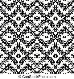Monochrome seamless abstract pattern