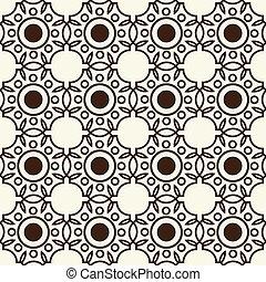 Monochrome Seamless Background Pattern