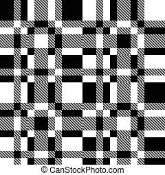 monochrome, seamless, modèle