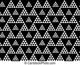 Monochrome seamless pattern vector illustration. Concept geometric tile background for surface print and web design, background, fabric. Black and white modern motif.