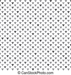 Monochrome seamless pattern with he
