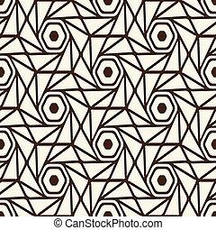 Monochrome Seamless White Black Pattern