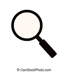 monochrome silhouette of magnifying glass