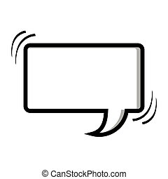 monochrome silhouette rectangle shape dialog box vector...