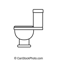monochrome silhouette with toilet icon side view
