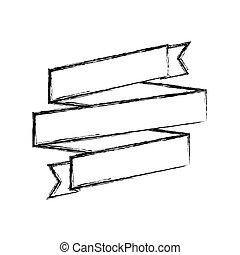 monochrome sketch of ribbon swirl