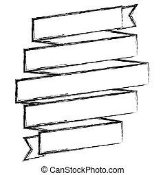 monochrome sketch of spiral of ribbon