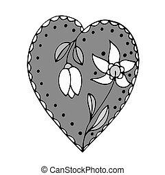 Sketchy Doodle Heart