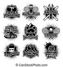 Monochrome Sport Logos Set