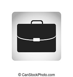monochrome square frame with silhouette briefcase executive icon