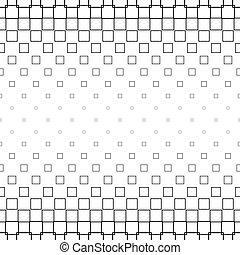 Monochrome square pattern - geometric vector background design