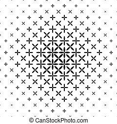 Monochrome star pattern - geometric abstract background design
