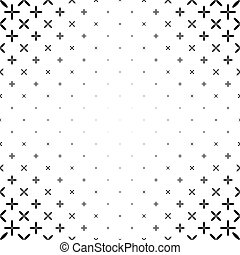 Monochrome star pattern - geometric abstract vector background