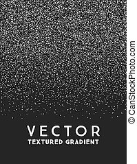Monochrome stippled gradient texture, abstract noir...