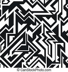 monochrome technology seamless pattern