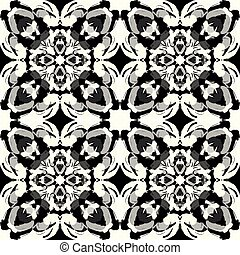 monochrome tribal antique seamless pattern