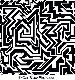 monochrome tribal seamless pattern