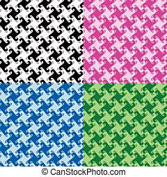 Monochrome Twirl Pattern