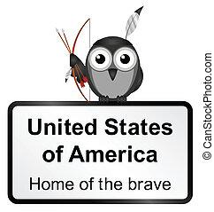 United States - Monochrome United States of America sign ...