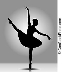 black silhouette of a ballerina