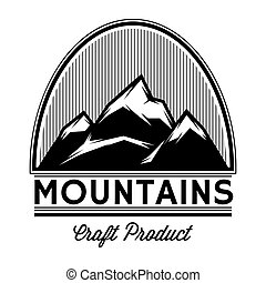 monochrome vector pattern of mountain tops from lines