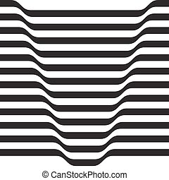 Monochrome volumetric pattern from the strips. Vector...