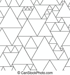 monochroom, driehoek, seamless, model