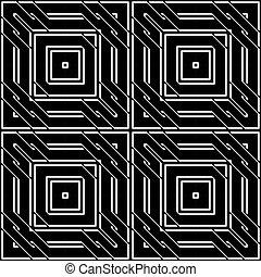 monochroom, geometrisch ontwerp, seamless, model