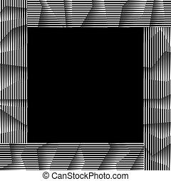 monochroom, gestreept vensterraam