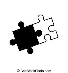 monochroom, samenwerking, raadsel, oplossing