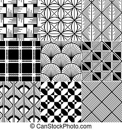 monochroom, seamless, achtergrond